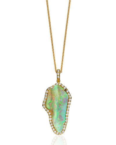 Coober Pedy Opal Pendant Necklace