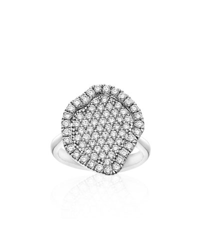 Pavé Diamond Geode-Shaped Ring, Size 6