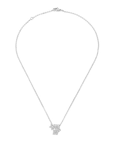 COMÈTE Necklace in 18K White Gold with Diamonds