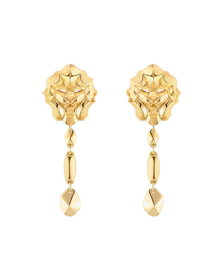 LION Earrings in 18K Yellow Gold
