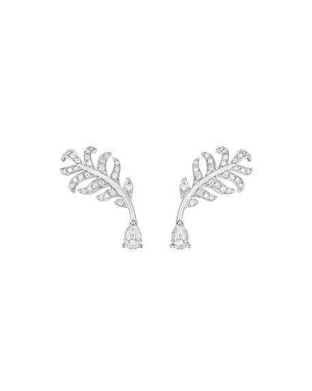 PLUME Earrings with Diamonds