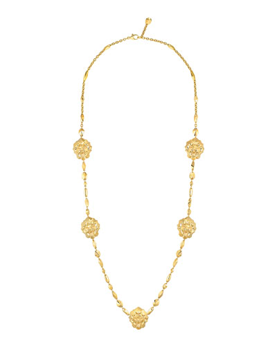 LION Sautoir Necklace in 18K Yellow Gold
