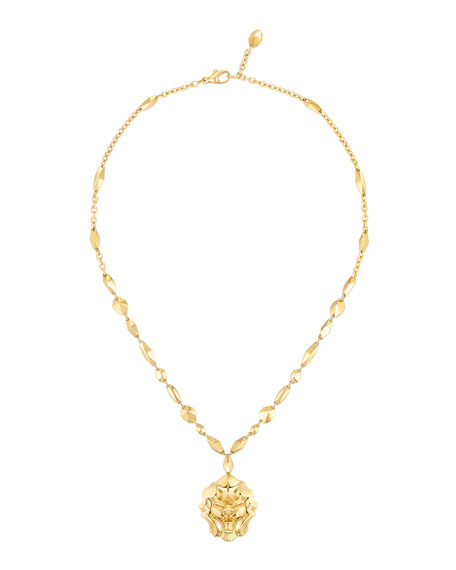 LION Necklace in 18K Yellow Gold