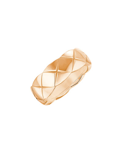 COCO CRUSH Ring in 18K Beige Gold, Small Version