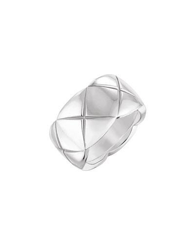 COCO CRUSH Ring in 18K White Gold, Medium Version