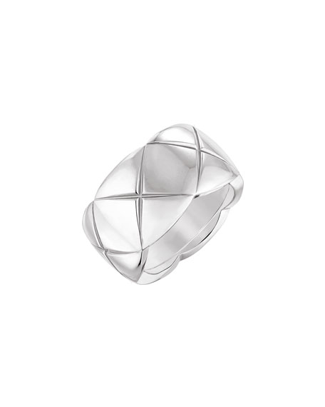 COCO CRUSH Ring in 18K White Gold, Medium Version