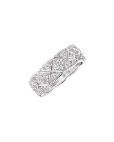 COCO CRUSH Ring in 18K White Gold with Diamonds, Small Version