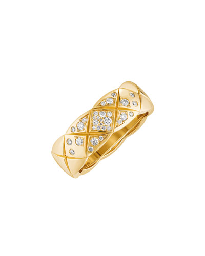 COCO CRUSH Ring in 18K Yellow Gold with Diamonds, Small Version