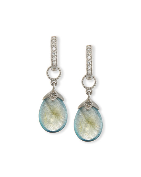 Jude Frances Pear-Shaped Labradorite Briolette Earring Charms