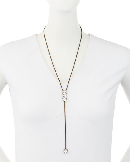 Dylan Crystal Lariat Necklace