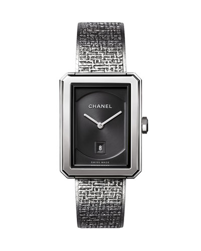 BOY·FRIEND Tweed Medium Steel Watch Watch
