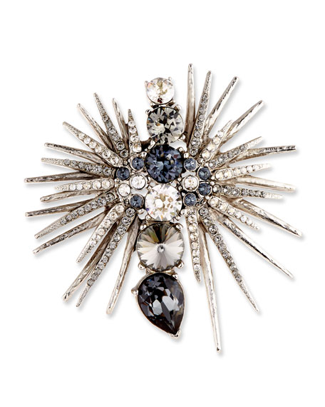 Celestial Star Crystal Pin, Gray