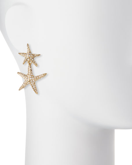Sea Star Golden Drop Earrings
