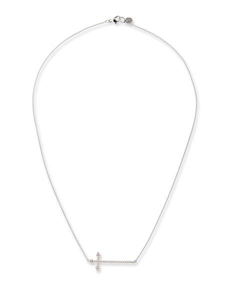 Provence Champagne Diamond Cross Necklace
