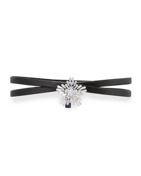 Mini Monarch Crystal Starburst Choker Necklace
