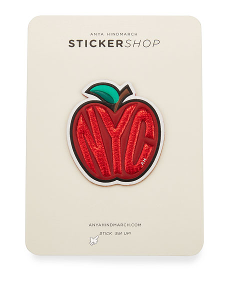 Anya Hindmarch Big Apple Sticker for Handbag, Red