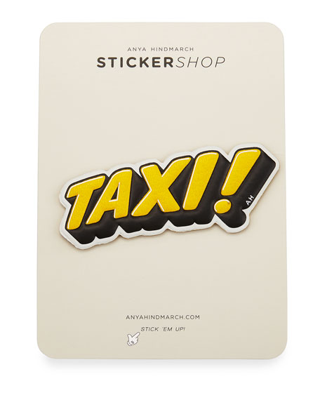 Taxi! Sticker for Handbag, Yellow