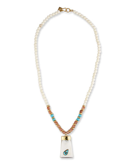 Ashley Pittman Maono Beaded Pendant Necklace, 36