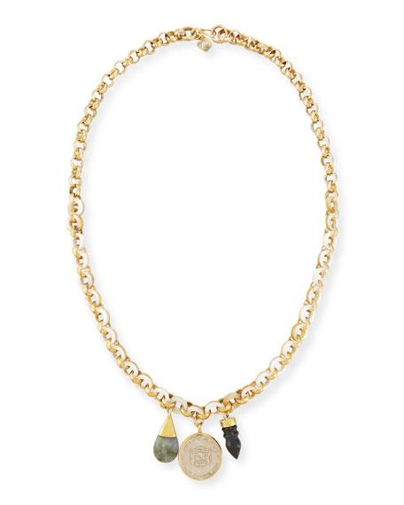 Mpenzi Long Triple-Charm Necklace
