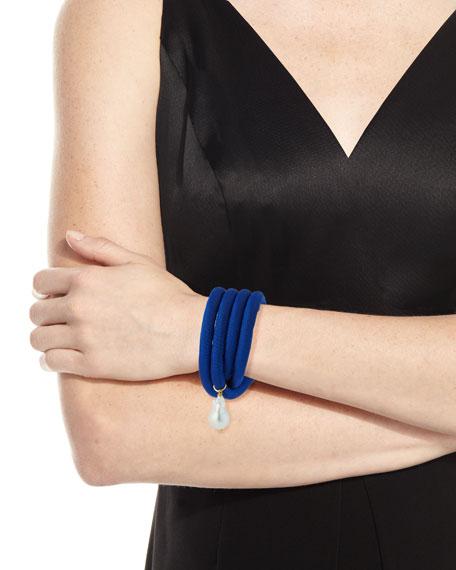Silk Wrap Bracelet with Baroque Pearl