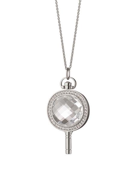 Oval Pave Key Necklace