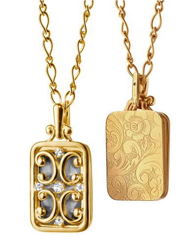Gate Locket Necklace with Diamonds  30