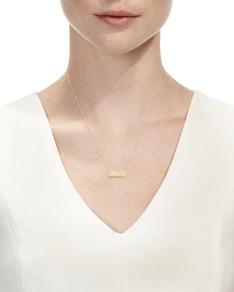 Pavé Diamond Love Bar Necklace