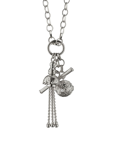 Sterling Silver Charm Pendant Necklace