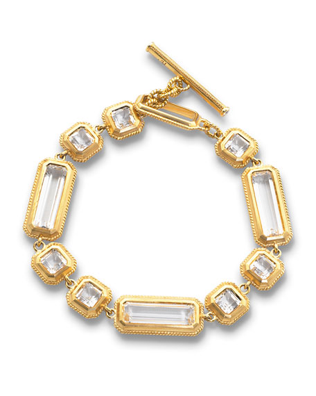 Yellow Gold Crystal Mosaic Bracelet