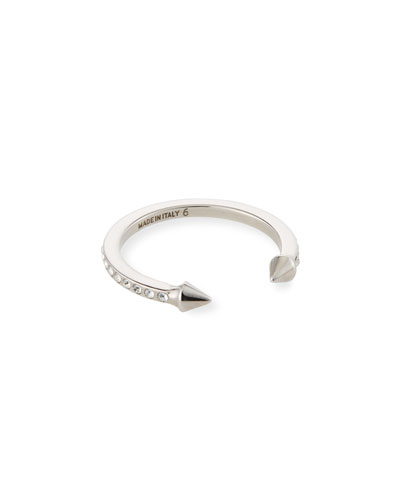 Super Ultra Mini Titan Ring with Crystals