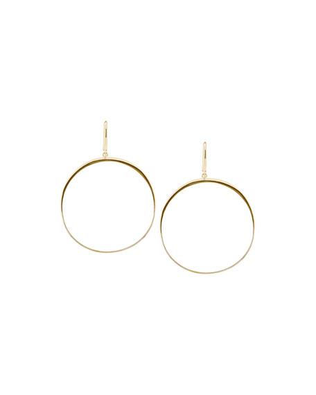 Gloss Open Bangle Hoop Earrings
