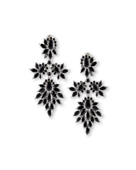 Crystal Cluster Marquis Statement Earrings