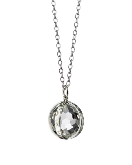 "Silver Carpe Diem Pendant Necklace, 30""L"