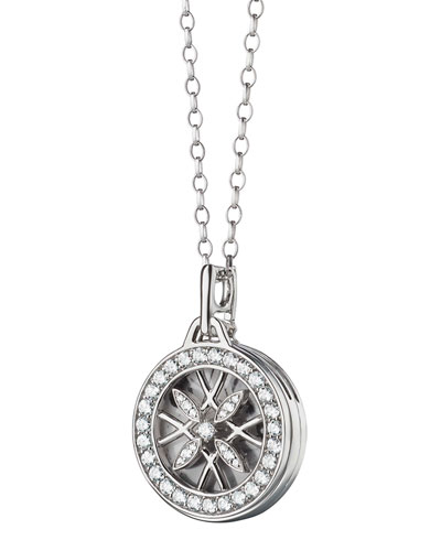 Round Gate Locket Photo Necklace