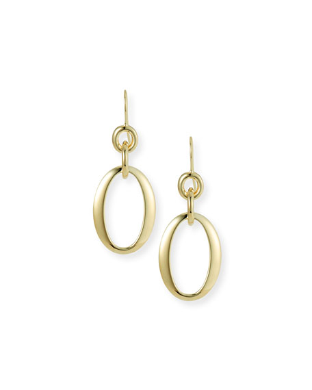 18k Glamazon Short Oval Link Earrings