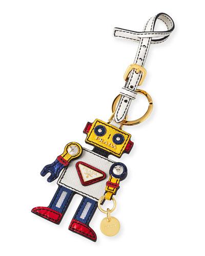 Boy Robot Mirror Charm  White/Yellow (Talco/Mimosa)