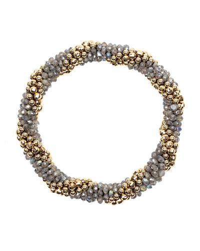 Audrey 14k Gold And Labradorite Bead Bracelet