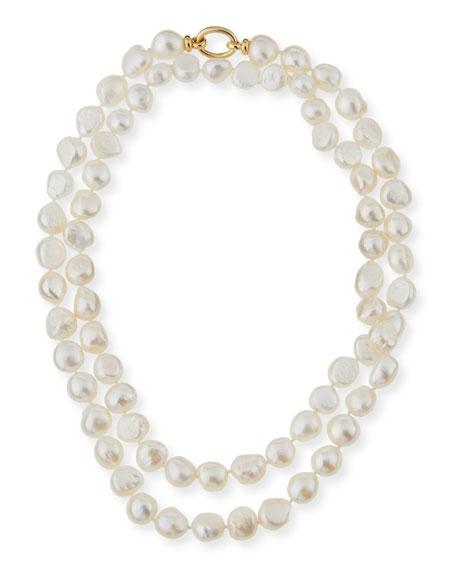 """Baroque Pearl Necklace, 42""""L"""
