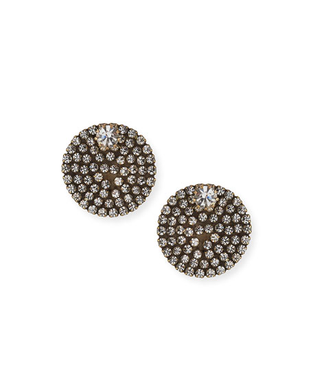 Auden Accessories ECLIPSE CRYSTAL BUTTON EARRINGS