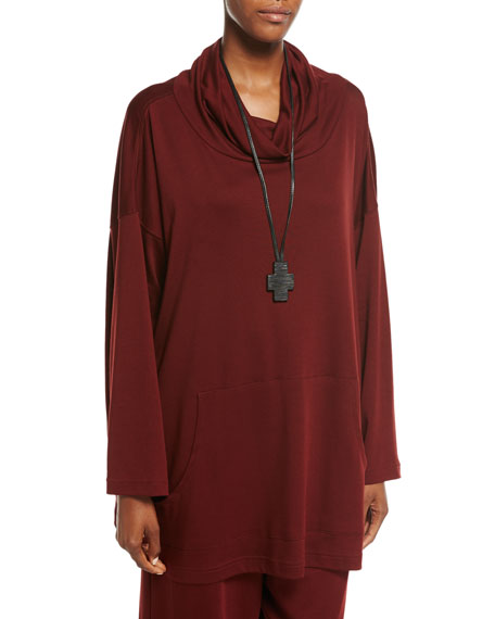 Ebony Cross Pendant on Leather Necklace