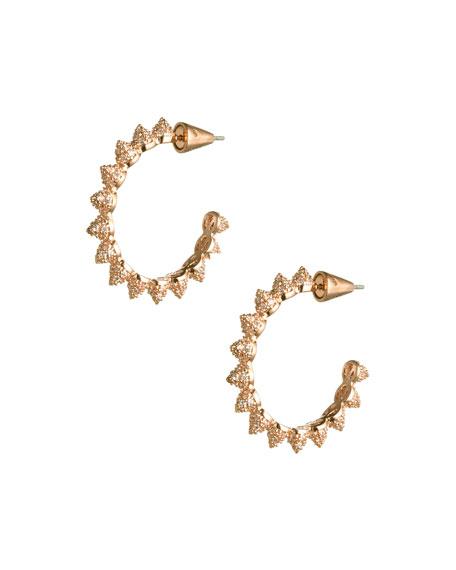 Pave Mini Cone Hoop Earrings