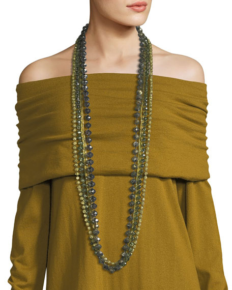 Lafayette 148 New York Long Ombre Beaded Necklace