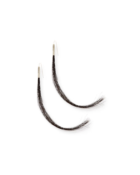 Helmut Lang Re-Edition Sterling Silver Horsehair Earrings