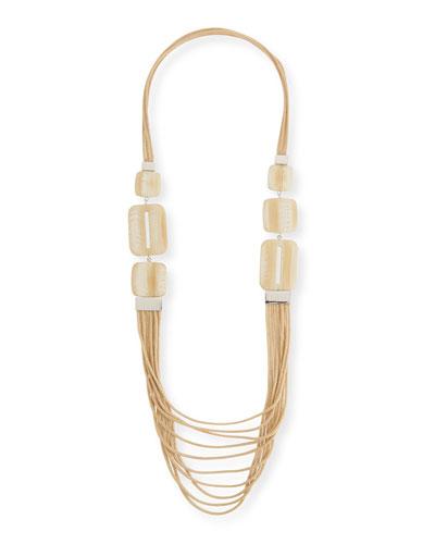 Marble Block Multi-Strand Necklace