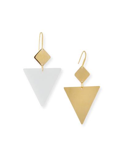 Mismatched Geometric Drop Earrings