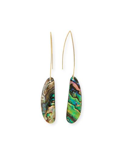 Plated Shell Hook Earrings