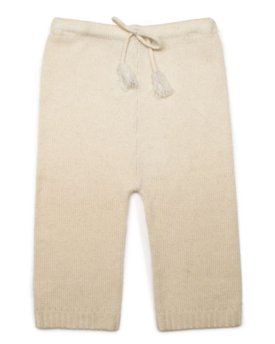 Cashmere Drawstring Pants, Cream, Baby