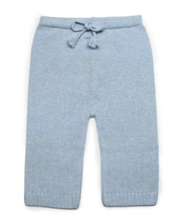 Cashmere Drawstring Pants, Blue, Baby