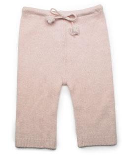 Cashmere Drawstring Pants, Pink, Baby