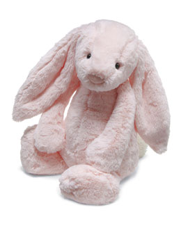 Bashful Plush Chime Bunny, Pink